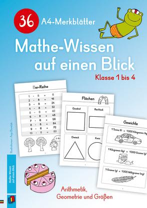 36 A4-Merkblätter Mathe-Wissen auf einen Blick – Klasse 1 bis 4 von Verlag an der Ruhr,  Redaktionsteam