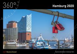 360° Deutschland – Hamburg Kalender 2020 von de Jonge,  Imke, de Jonge,  Jan