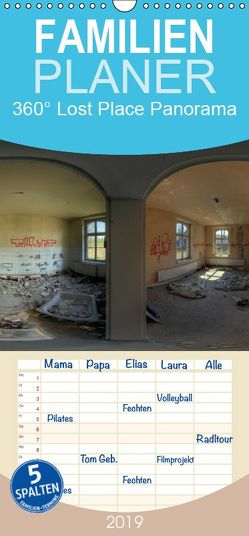 360° Lost Place Panorama – Familienplaner hoch (Wandkalender 2019 , 21 cm x 45 cm, hoch) von DerMische