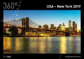 360° USA – New York Kalender 2019 von Gackstatter,  Joanna, Pingert,  Mark
