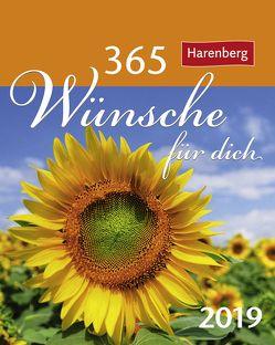 365 Wünsche für dich – Kalender 2019 von Beckmann,  Ulrike, Harenberg