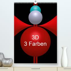 3D – 3 Farben (Premium, hochwertiger DIN A2 Wandkalender 2020, Kunstdruck in Hochglanz) von Bild,  Issa