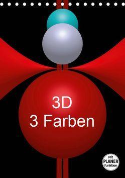 3D – 3 Farben (Tischkalender 2019 DIN A5 hoch) von Bild,  Issa