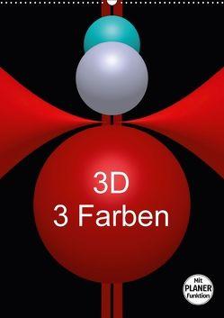 3D – 3 Farben (Wandkalender 2018 DIN A2 hoch) von Bild,  Issa
