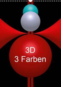 3D – 3 Farben (Wandkalender 2019 DIN A3 hoch) von Bild,  Issa