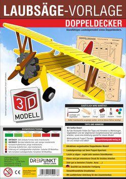 3D Laubsägevorlage Doppeldecker