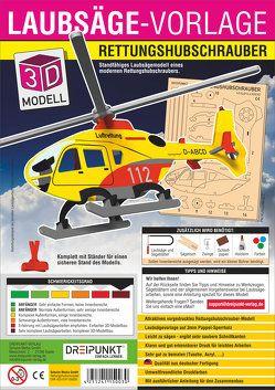 3D Laubsägevorlage Rettungshubschrauber