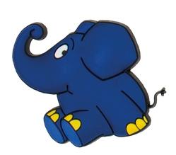 """3D-Magnet """"Der blaue Elefant"""" aus der Sendung mit der Maus"""