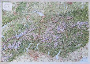 3D Reliefkarte Alpen 1:500.000 von Mark,  Clemens, März,  Sabine