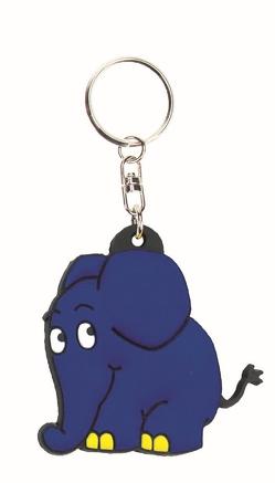 """3D-Schlüsselanhänger """"Der blaue Elefant"""" aus der Sendung mit der Maus"""