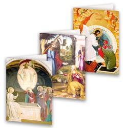 3er-Set Ostergrußkarten »Auferstehung Christi«
