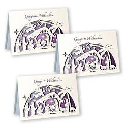 3er-Set Scherenschnitt-Karte »Gesegnete Weihnachten«