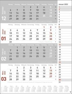 4-Monats-Planer, rot Kalender 2022 von Heye