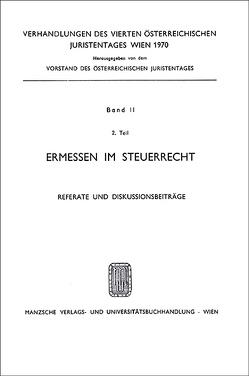 4. Österreichischer Juristentag 1970 Steuerrecht von Barfuss,  Walter, Lehne,  Friedrich