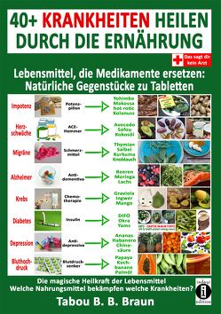 40+ Krankheiten heilen durch die Ernährung – Lebensmittel, die Medikamente ersetzen: Natürliche Gegenstücke zu Tabletten von Braun,  Tabou Banganté Blessing