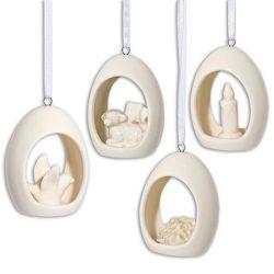 4er-Set Porzellan-Ostereier »Gesegnete Ostern«