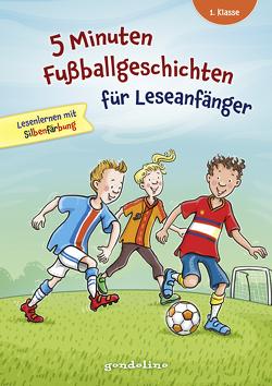 5 Minuten Fußballgeschichten für Leseanfänger, 1. Klasse – Lesenlernen mit Silbenfärbung