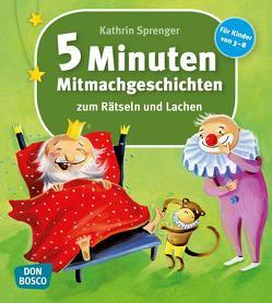 5-Minuten-Mitmachgeschichten zum Rätseln und Lachen von Sprenger,  Kathrin