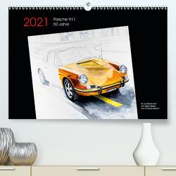 50 Jahre Porsche 911 (Premium, hochwertiger DIN A2 Wandkalender 2021, Kunstdruck in Hochglanz) von Bartsch / design,  Andreas, bartsch.