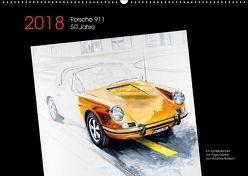 50 Jahre Porsche 911 (Wandkalender 2018 DIN A2 quer) von Bartsch / design,  Andreas, bartsch.,  k.A.