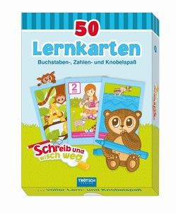 50 Lernkarten: Buchstaben, Zahlen- und Knobelspaß von Angelmahr,  Anja
