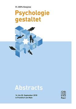51. Kongress der Deutschen Gesellschaft für Psychologie von Hartig,  Johannes, Horz,  Holger