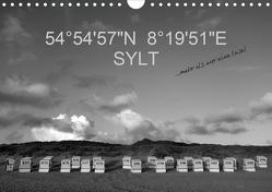 54°54'57″N 8°19'51″E SYLT (Wandkalender 2021 DIN A4 quer) von Linderer,  Günter