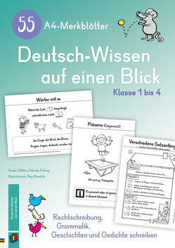 55 A4-Merkblätter Deutsch-Wissen auf einen Blick – Klasse 1 bis 4 von Grabe,  Astrid, Mithra,  Salome P., Mucha,  Andrea, Stang,  Christian