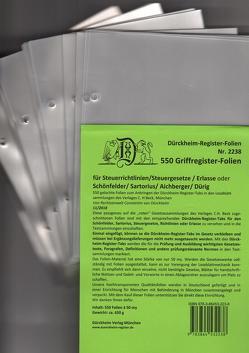 550 Dürckheim-Griffregister-Folien zum Einheften in Gesetzessammlungen von Dürckheim,  Constantin von