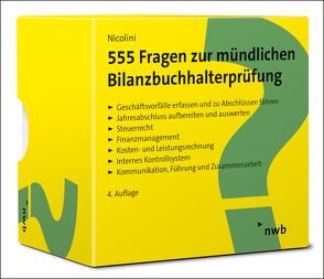 555 Fragen zur mündlichen Bilanzbuchhalterprüfung von Nicolini,  Hans J.