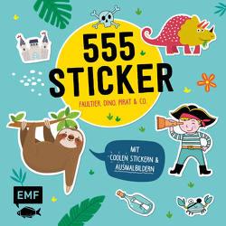 555 Sticker – Faultier, Dino, Pirat und Co. von Edition Michael Fischer