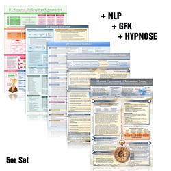 [5er-Set] Das NLP & GFK & Hypnose Lern- und Wissenskartenset (2018) von Cammerer,  Gaby, Cremer,  Samuel, Schumacher,  Christian