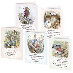 5er-Set Klappkarten »Nostalgische Grüße« von Potter,  Beatrix