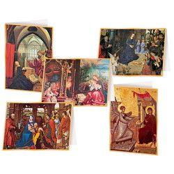5er-Set Weihnachtskarten »Christliche Kunst« – Klappkarten