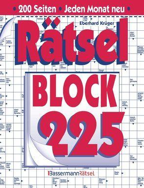 5er-VE Rätselblock 225 von Krüger,  Eberhard