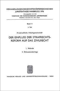 6. Österreichischer Juristentag 1976 Zivilrecht von Mayer-Maly,  Theo, Rummel,  Peter, Steininger,  Herbert