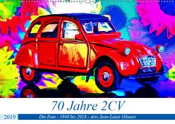 70 Jahre 2CV (Wandkalender 2019 DIN A2 quer) von Glineur alias DeVerviers,  Jean-Louis