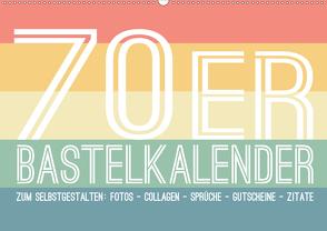 70er Jahre Bastelkalender – DIY Kreativ-Kalender zum Selbstgestalten (Wandkalender 2020 DIN A2 quer) von Speer,  Michael