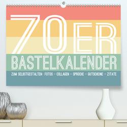 70er Jahre Bastelkalender – DIY Kreativ-Kalender zum Selbstgestalten (Premium, hochwertiger DIN A2 Wandkalender 2020, Kunstdruck in Hochglanz) von Speer,  Michael
