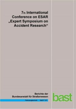 """7th International Conference on ESAR """"Expert Symposium in Accident Research"""" 2016"""