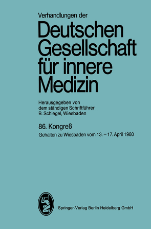 86. Kongreß von Schlegel,  Professor Dr. Bernhard