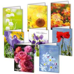 8er-Set Grußkarten »Himmlische Blütenträume« von Spilling-Nöker,  Christa