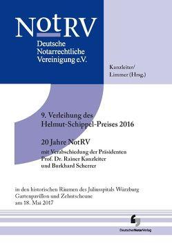 9. Verleihung des Helmut-Schippel-Preises 2016 _ 20 Jahre NotRV mit Verabschiedung der Präsidenten Prof. Dr. Rainer Kanzleiter und Burkhard Scherrer von Kanzleiter,  Rainer, Limmer,  Peter
