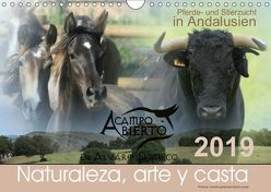 A CAMPO ABIERTO: Pferde- und Stierzucht in Andalusien (Wandkalender 2019 DIN A4 quer) von Eckerl Tierfotografie,  Petra
