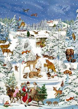 A4-Wandkalender – Tiere in Schneelandschaft