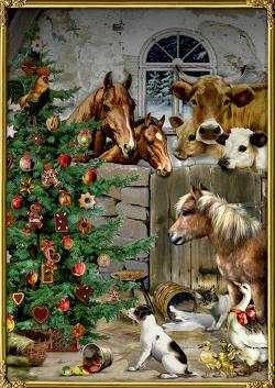 A4-Wandkalender – Weihnacht im Stall von Behr,  Barbara
