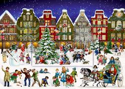 A4-Wandkalender – Winterabend in der Stadt