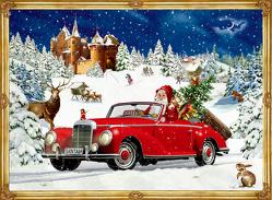 A4-Wandkalender – Winterfahrt im Oldtimer von Behr,  Barbara