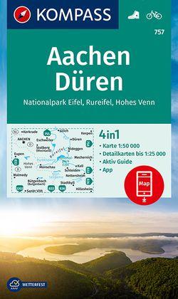 Aachen, Düren, Nationalpark Eifel, Rureifel, Hohes Venn von KOMPASS-Karten GmbH