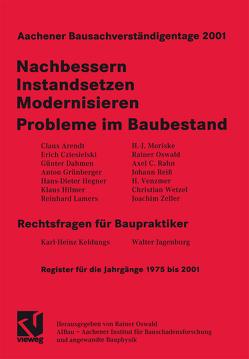 Aachener Bausachverständigentage 2001 von Oswald,  Rainer